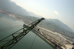 THREE GORGES DAM. In the construction Stock Images