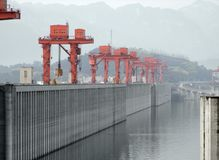Three Gorges Dam in China stock photos