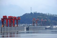 Three gorges dam, China. royalty free stock images