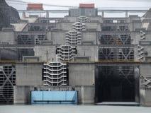 Three Gorges Dam detail royalty free stock photos