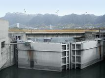 Three Gorges Dam detail royalty free stock photography