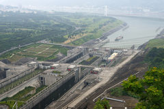 Three Gorges Dam Ship Locks, Yangtze China Travel Royalty Free Stock Images