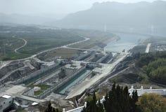 Three Gorges Dam at Yangtze River stock photo