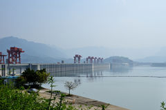 Three Gorges Dam. In Yangtze River stock photography