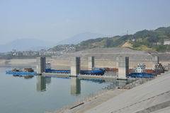 Three Gorges Dam. Yangtze River royalty free stock photos