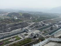 Three Gorges Dam at Yangtze River royalty free stock photo