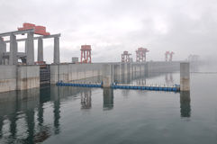 Three Gorges Dam. Yichang city China Stock Photos