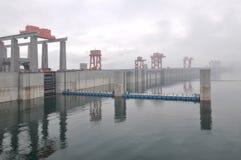 Three Gorges Dam. Yichang city China Stock Photos