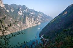 Three Gorges de la garganta del valle del río Yangtze Fotografía de archivo libre de regalías