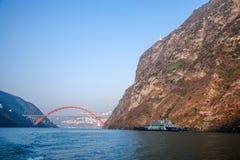 Three Gorges della gola della valle del fiume Yangtze immagini stock