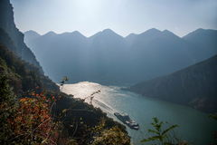 Three Gorges do desfiladeiro de Yangtze River Valley Foto de Stock