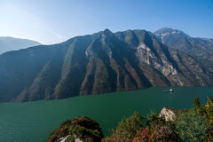 Three Gorges do desfiladeiro de Yangtze River Valley Imagem de Stock
