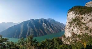 Three Gorges do desfiladeiro de Yangtze River Valley Imagens de Stock