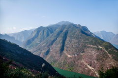 Three Gorges do desfiladeiro de Yangtze River Valley Fotografia de Stock Royalty Free