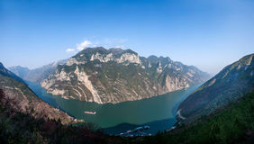 Three Gorges do desfiladeiro de Yangtze River Valley Foto de Stock Royalty Free