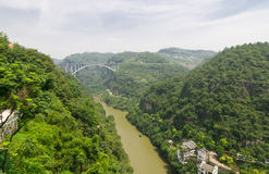 Three Gorges scenery. The beautiful scenery of the Three Gorges in China Stock Photo