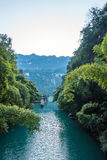 Three Gorges Tribe Scenic Spot along the Yangtze River Royalty Free Stock Image