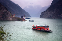 The Three Gorges at Yangtze river Royalty Free Stock Images