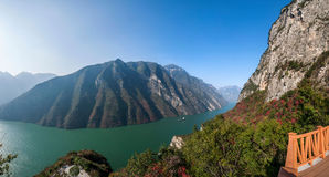 Three Gorges of the Yangtze River Valley Gorge Stock Photo