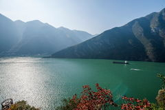 Three Gorges of the Yangtze River Valley Gorge Stock Images
