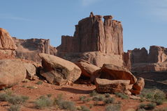 Three Gossips. At Arches National Park royalty free stock images