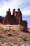 Three Gossips at Arches National Park Stock Images