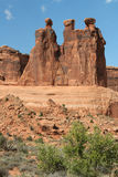 The Three Gossips - Arches National Park Stock Photo