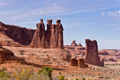 Three Gossips, Arches National Park Stock Photos