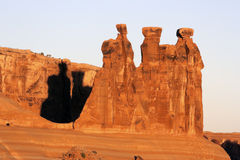 The Three Gossips at Arches National Park Royalty Free Stock Image