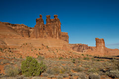 Three Gossips at Arches National Park Royalty Free Stock Photos