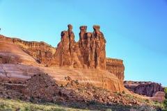 Three Gossips, Arches National Park, Utah Stock Photo
