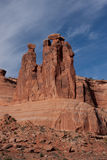 Three Gossips formation in Arches National Park Royalty Free Stock Photography