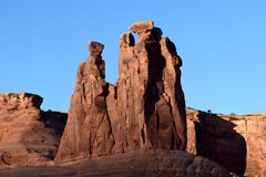 The Three Gossips formation at sunrise Royalty Free Stock Image