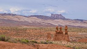 Three Gossips of Sandstone Formation Stock Images