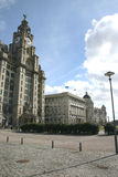 The Three Graces. The 3 Graces in Liverpool royalty free stock photos