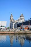 The Three Graces, Liverpool. Royalty Free Stock Image