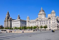 The Three Graces, Liverpool. Royalty Free Stock Photography