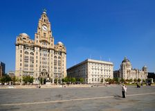 The Three Graces, Liverpool. Royalty Free Stock Photos