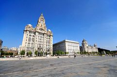 The Three Graces, Liverpool. Royalty Free Stock Images