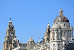 The Three Graces, Liverpool. Stock Photos