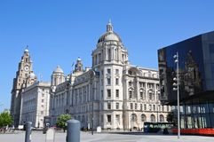 The Three Graces, Liverpool. Stock Images