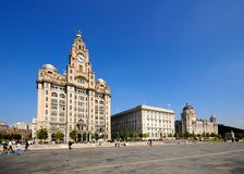 The Three Graces, Liverpool. Stock Photography