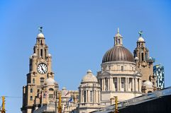 The Three Graces, Liverpool. Royalty Free Stock Photo
