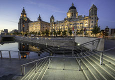 The Three Graces on Liverpools waterfront Stock Photo