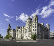 The Three Graces on Liverpools waterfront Stock Photography
