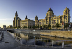 The Three Graces on Liverpools waterfront Stock Photos