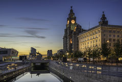 The Three Graces on Liverpools waterfront Royalty Free Stock Photography