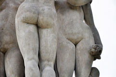 Three Gracies. Statue monument in Lednice are Stock Photos