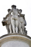 Three Gracies. Statue monument in Lednice are Royalty Free Stock Photography