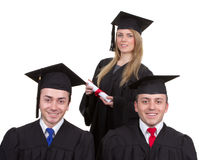 Three graduates Stock Photography